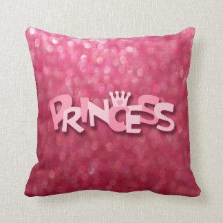 Princesse rose scintillante mignonne Bokeh Coussin