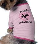 Princesse rose T-shirts de caniche Tee-shirt Pour Animal Domestique