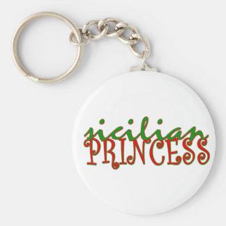 Princesse sicilienne porte-clé rond