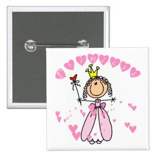 Princesse Stick Figure Tshirts et cadeaux de coeur Badge Avec Épingle