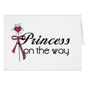 Princesse sur le chemin carte de vœux