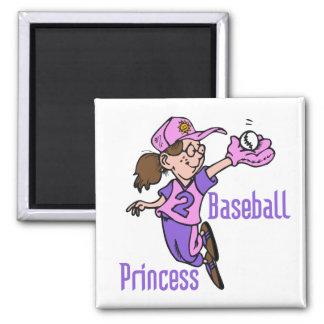Princesse T-shirts et cadeaux de base-ball Aimants