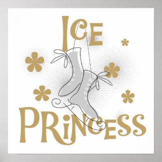 Princesse T-shirts et cadeaux de glace Poster