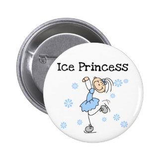 Princesse Tshirts et cadeaux de patinage de glace Pin's