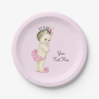 Princesse vintage baby shower assiettes en papier