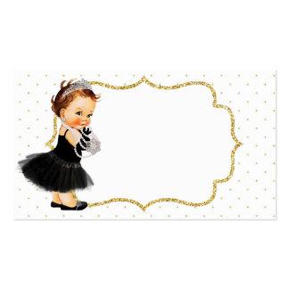 Princesse vintage carte de visite de bébé