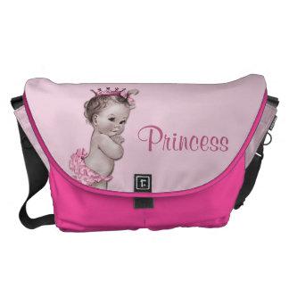 Princesse vintage Pink Baby Diaper Bag Besaces