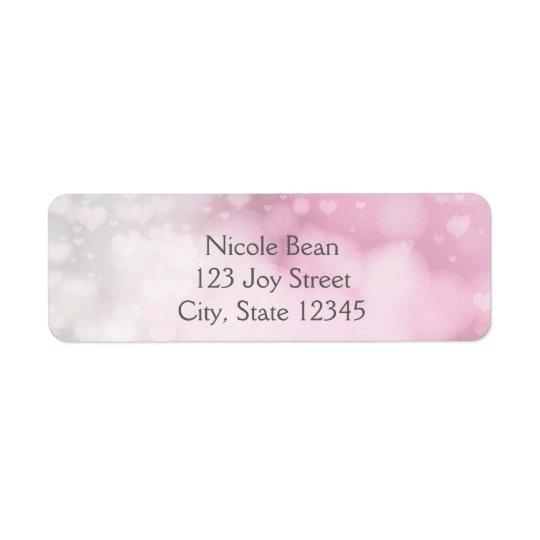 Princesse Wand et étiquettes de adresse roses