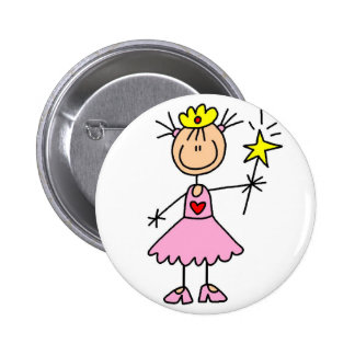 Princesse With Wand Button Pin's Avec Agrafe