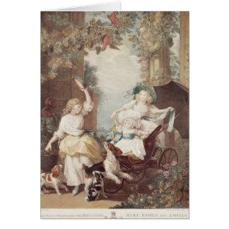 Princesses Mary, Sophia et Amelia Carte De Vœux