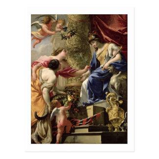 Principales paix de prudence et abondance, c.1645 carte postale