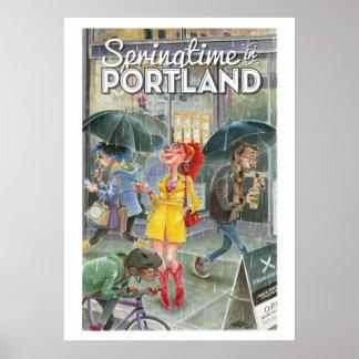 Printemps à Portland-lrg Poster