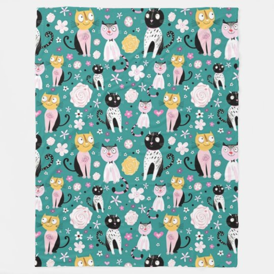 Printemps Kitty Couverture Polaire