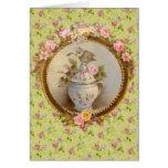 Printemps, spring-Médaillon & bébé moineau Carte De Vœux