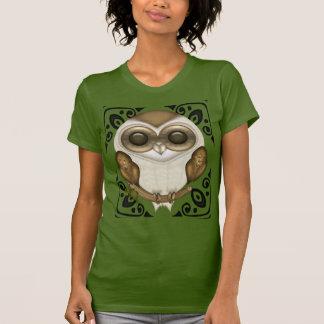 Prise de bec la pièce en t décorative de hibou de t-shirt