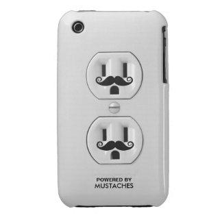 Prise de courant drôle personnalisée de moustache coque iPhone 3 Case-Mate