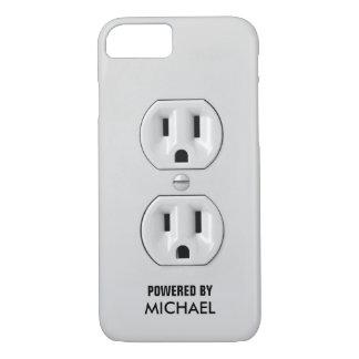 Prise de courant personnalisée drôle coque iPhone 7