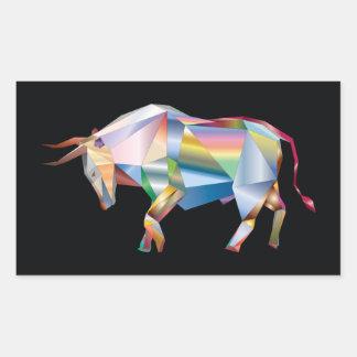 Prisme d'arc-en-ciel de Taureau de Taureau Sticker Rectangulaire