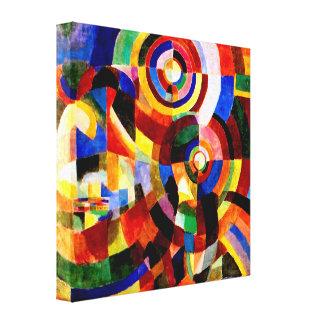 Prismes électriques par art abstrait de Sonia Dela Toiles Tendues