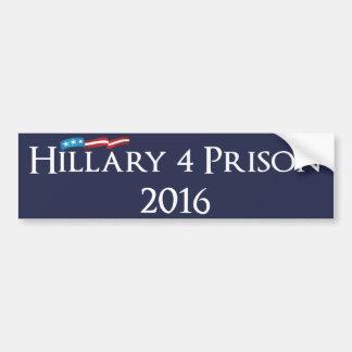 Prison 2016 de Hillary Clinton 4 Autocollant De Voiture