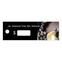 Prix à payer de marchandises de bijoux modèle de carte de visite