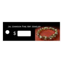 Prix à payer de marchandises de bijoux modèles de cartes de visite