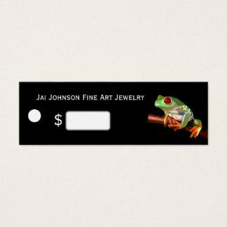 Prix à payer de marchandises (grenouille d'arbre) mini carte de visite