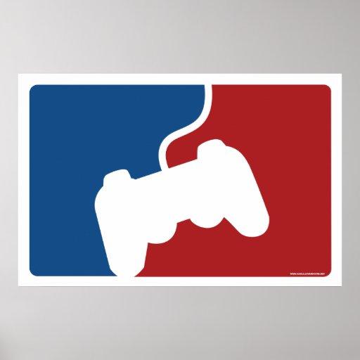 Pro affiche de jeu vidéo de Gamer - geek de contrô