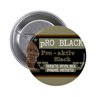 Pro bouton NOIR olive Badge