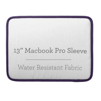 Pro douille de la coutume 13in Macbook Poches Pour Macbook Pro