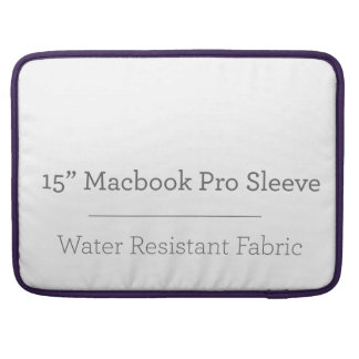 Pro douille de la coutume 15in Macbook Poches Pour Macbook Pro