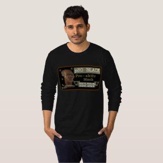 Pro longue pièce en t NOIRE de mâle de douille de T-shirts