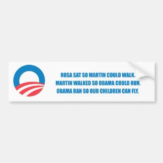 Pro-Obama - MARTIN A MARCHÉ AINSI OBAMA POURRAIT C Autocollant De Voiture