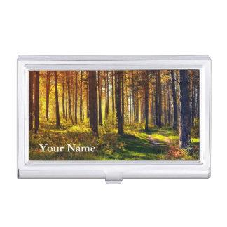 Pro photographie (forêt) boîtier pour cartes de visite
