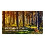 Pro photographie (forêt) cartes de visite professionnelles