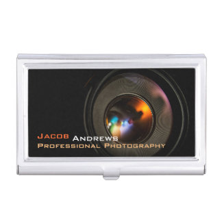 Pro photographie (objectif de caméra) porte-cartes de visite