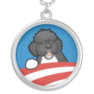Pro premier chien BO Obama Pendentif Rond