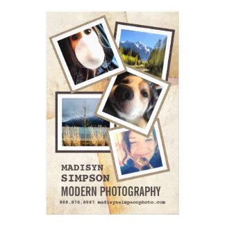 Pro publicité moderne de photographe prospectus