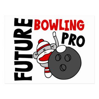 Pro singe de chaussette de futur bowling cartes postales