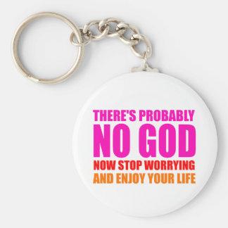 Probablement aucun Dieu Porte-clé Rond