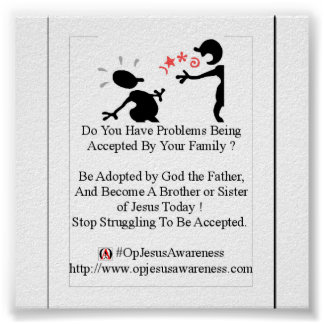 Problèmes étant acceptés ? Soyez adopté par Dieu ! Poster