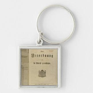 Procédure légale de 1776 porte-clé carré argenté
