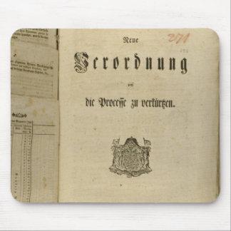 Procédure légale de 1776 tapis de souris