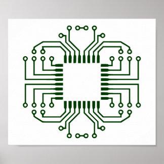 Processeur électrique de carte poster