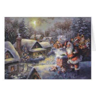 Prochaine carte de Noël de village de Milou de
