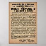 "Proclamation 1916 irlandaise (copie originale 19"" affiche"