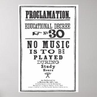 Proclamation 30 affiche