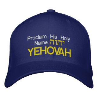 Proclamez son casquette nommé saint avec le nom casquette brodée