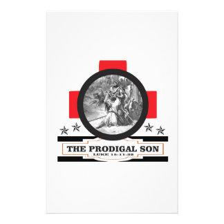 prodigal rouge papier à lettre customisé