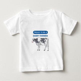 Producteur laitier fier t-shirt pour bébé